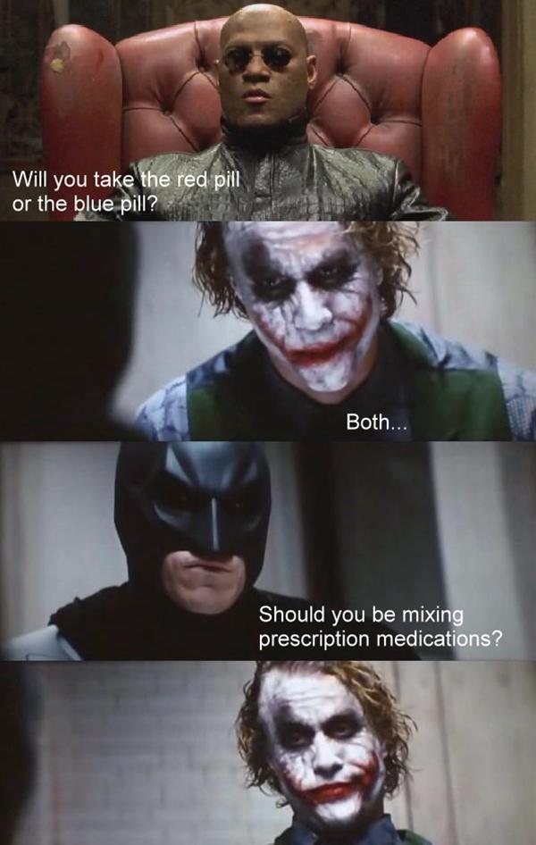La pilule rouge ou bleu, l'illusion du choix dans la matrice